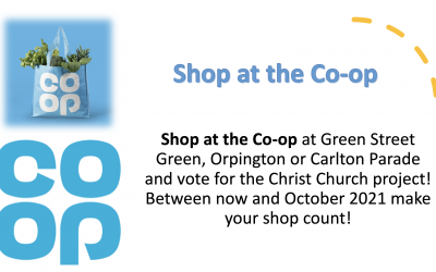 We are one of Co op's Chosen Charities for our CHURCH GARDEN PROJECT